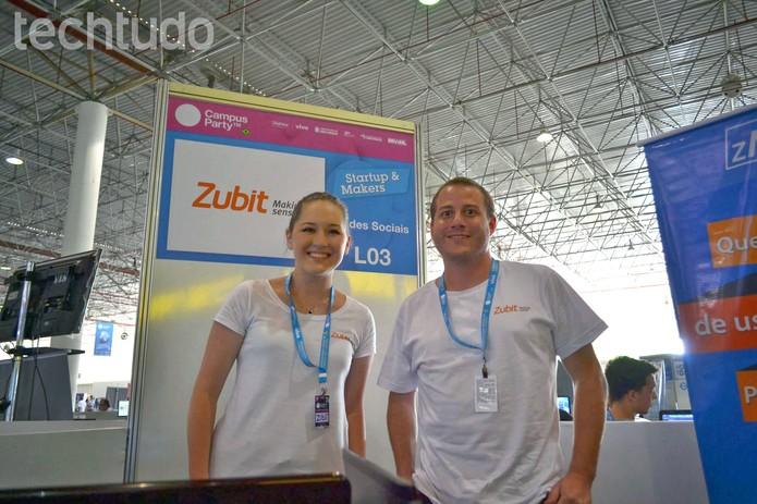 A Zubit, de São Paulo, está compilando dados de redes sociais sobre a Campus Party 2014 (Foto: TechTudo/Melissa Cruz)