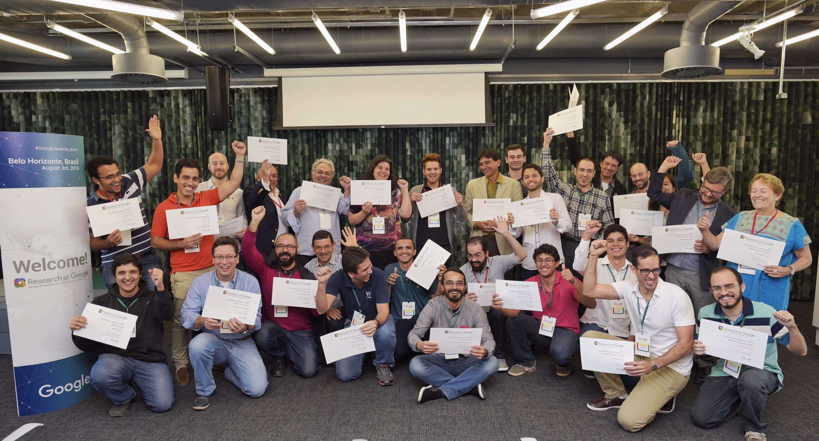 Os vencedores do Google Research Awards de 2016 (Foto: Divulgação)