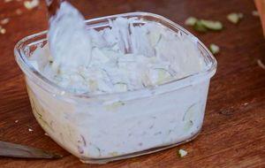 Molho de iogurte para carnes