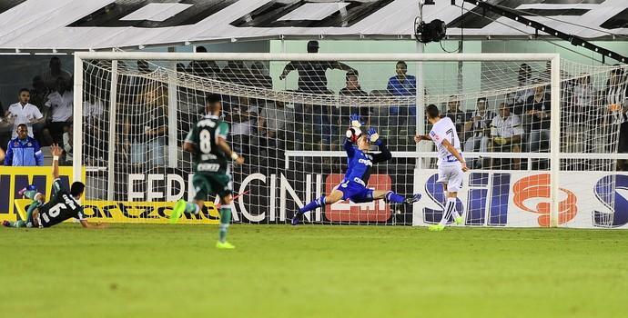 Fernando Prass Santos x Palmeiras (Foto: Marcos Ribolli)