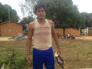 Augusto Darburoikwa está entre os pré-selecionados para os Jogos Mundiais Indígenas (Foto: Edson Reis/GloboEsporte.com)