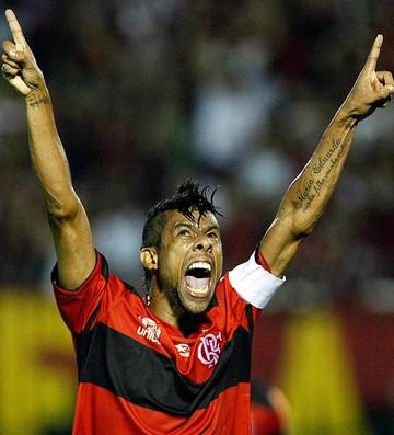Leo Moura gol Flamengo (Foto: Fábio Castro / Ag. Estado)
