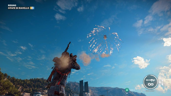 Destrua tudo em Just Cause 3 com o mod Fire Leesh More Rockets (Foto: Divulgação/Just Cause 3 Mods)