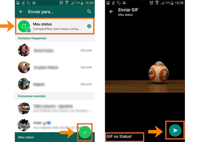 Como Postar Um Gif No Status Do Whatsapp Pelo Android