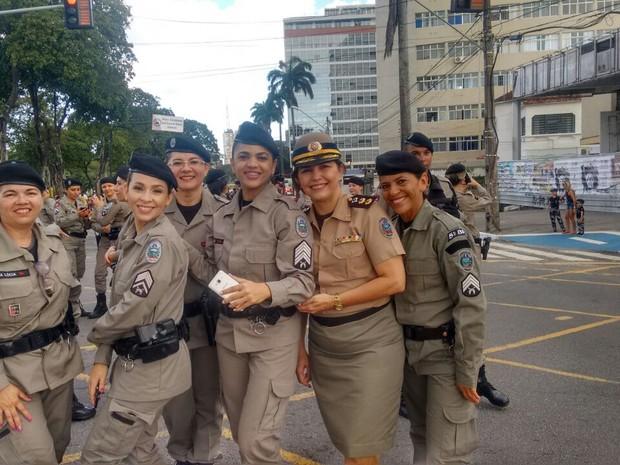 Com o passar dos anos, as policiais militares da paraíba tem conquistado respeito e admiração dos companheiros de profissão (Foto: EM5/Polícia Militar)