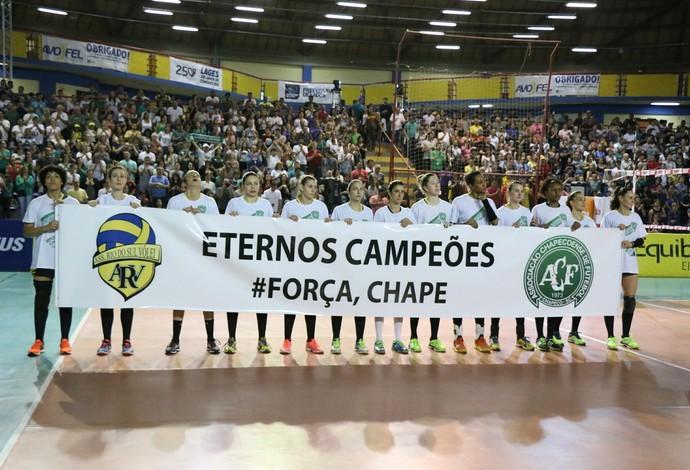 Rio do Sul fez homenagem ao time da Chapecoense (Foto: Clóvis Eduardo Cuco/Rio do Sul)