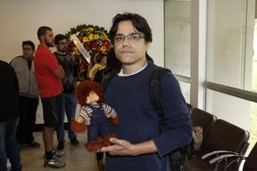 Luis Grama - Velório de Orival Pessini  (Foto: Celso Tavares / Ego)
