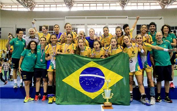 Handebol Pan-Americano Feminino campeão (Foto: Divulgação)