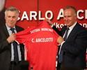 Ancelotti é apresentado no Bayern  e elege Champions como objetivo