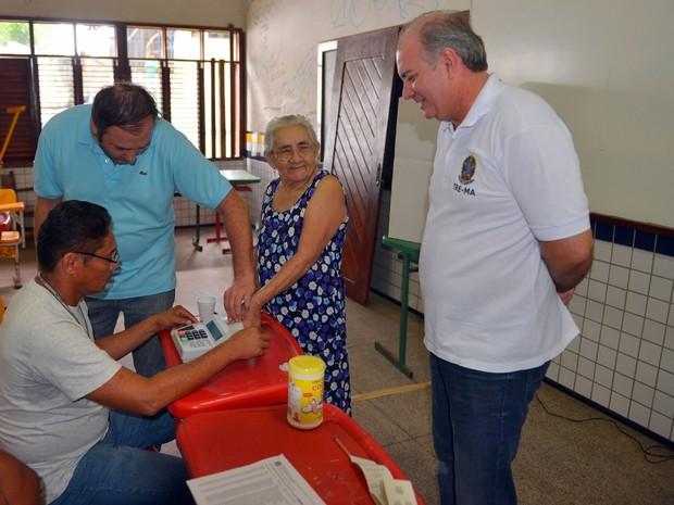 Votação simulada mobiliza eleitores da Vila Janaína (Foto: Divulgação/TRE)