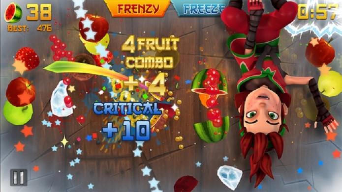 Fruit Ninja é um dos apps que mais gasta bateria do iPhone (Foto: Divulgação)
