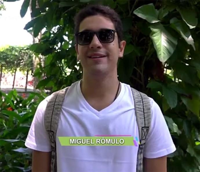 Vídeo Show acompanha dia de gravação de Miguel Rômulo (Foto: Vídeo Show / Gshow)