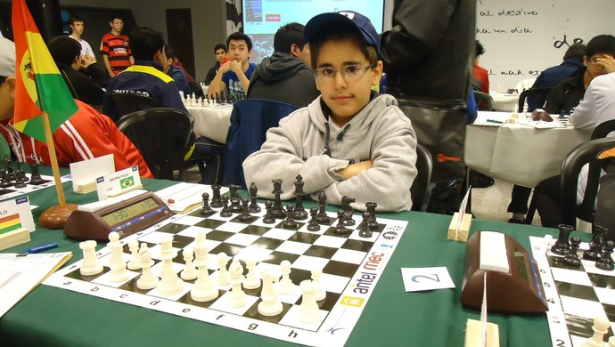Vitor Amorim Frois Enxadrista Araxá Campeonato Sul-Americano 2014 (Foto: Vítor Amorim/Arquivo Pessoal)