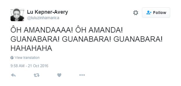 Amanda ficou famosa na rede (Foto: Reprodução/Twitter)