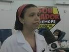 Em greve, residentes do HDM fazem doação de sangue em Petrolina, PE