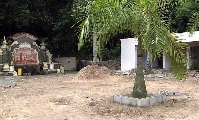 Biquinha passa por reforma (Foto: Reprodução/TV Tribuna)