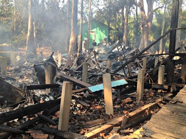 Museu incêndio (Foto: Iryá Rodrigues/G1)