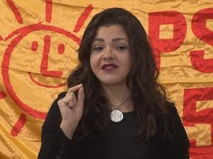 PSOL lançou Xênia Mello como candidata à Prefeitura de Curitiba (Foto: Reprodução/ RPC Curitiba)