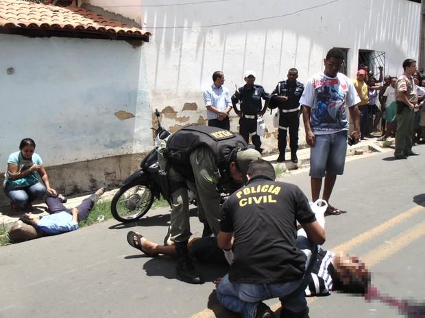 Homem mata ex-esposa e depois comete suicídio em Floriano (Foto: Heraldo Freitas)