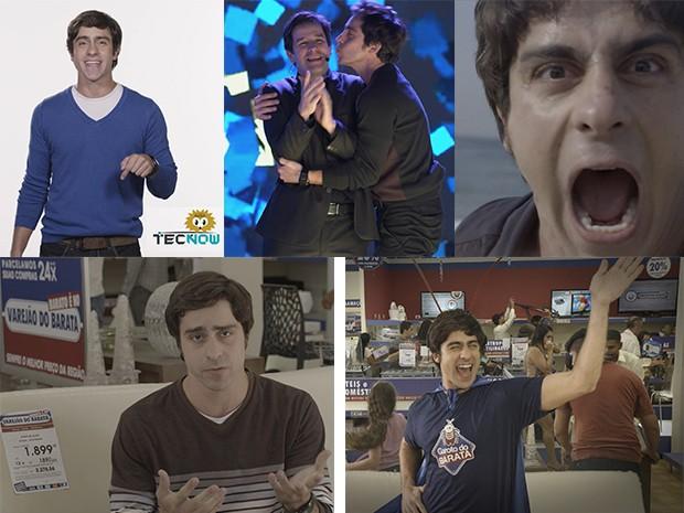 Ernesto Avelar em suas aparições públicas no Ouriço, no Concurso Geração Brasil, no vídeo troll e no Varejão do Barata (Foto: Fato na Rede)