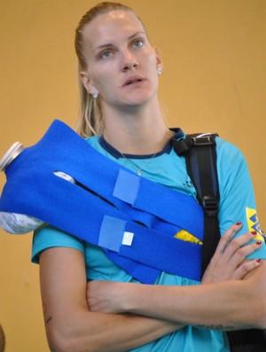 Mari treino vôlei Pré-Olímpico (Foto: João Gabriel Rodrigues / GLOBOESPORTE.COM)