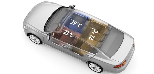 Ar-condicionado de três zonas do Volkswagen Passat (Foto: Divulgação)