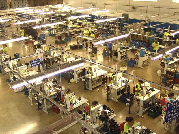 Fábrica de calçados em Nova Serrana (Foto: Sindinova/Divulgação)