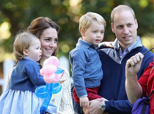 William com os filhos e a mulher (Foto: Getty Images)