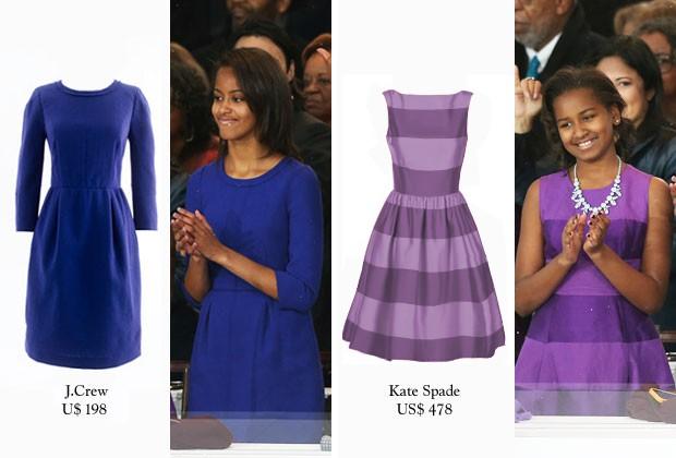 Vestidos das Filhas de Barack Obama (Foto: AFP/reprodução)