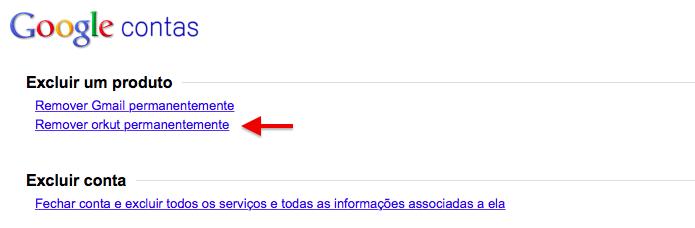 Exclua o Orkut para apagar as suas publicações do arquivo (Foto: Reprodução/Helito Bijora)