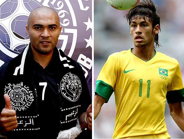 montagem Afonso Alves Neymar (Foto: Editoria de Arte / Globoesporte.com)