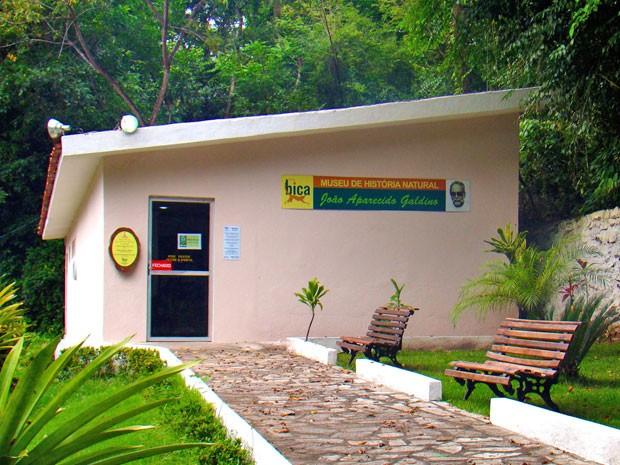 No Museu do Parque zoobotânico de João Pessoa é possível conhecer fósseis, esqueletos, peças taxidermizadas e origem da Fonte do Tambiá e do parque (Foto: Secom/JP)
