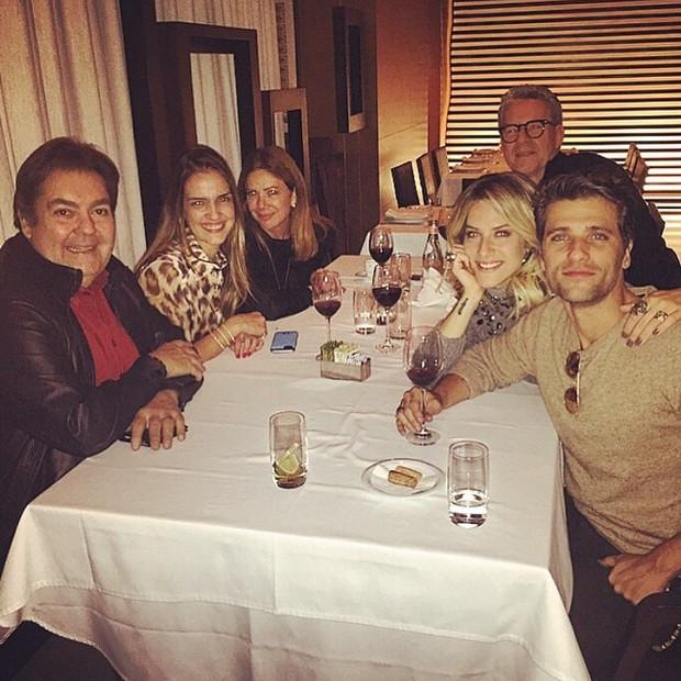 Fausto Silva, Luciana Cardoso, Bruno Gagliasso e Giovanna Ewbank (Foto: Reprodução/Instagram)