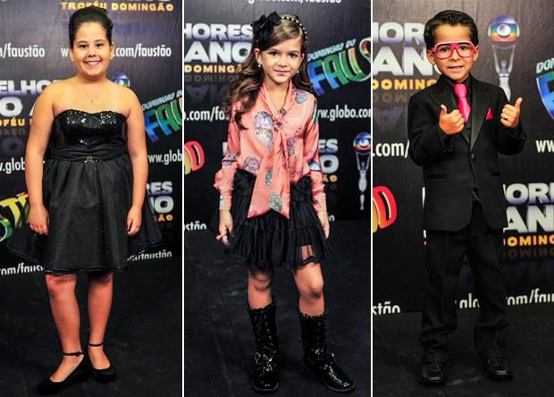 Ana Karolina Lannes, Mel Maia, Luiz Felipe Mello (Foto: Domingão do Faustão / TV Globo)
