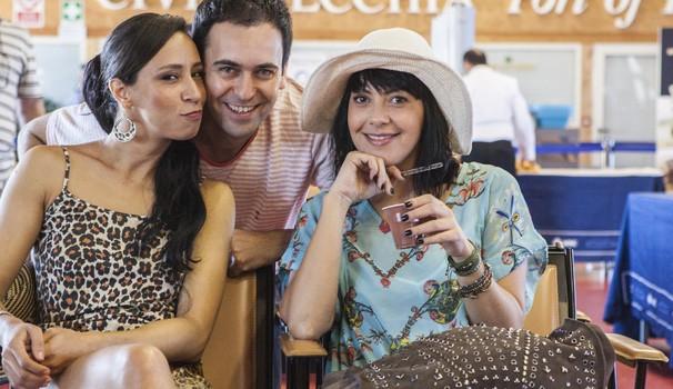 Rodrigo Ferrarini, Talita Caruta e Fabíula Nascimento  (Foto: Divulgação)