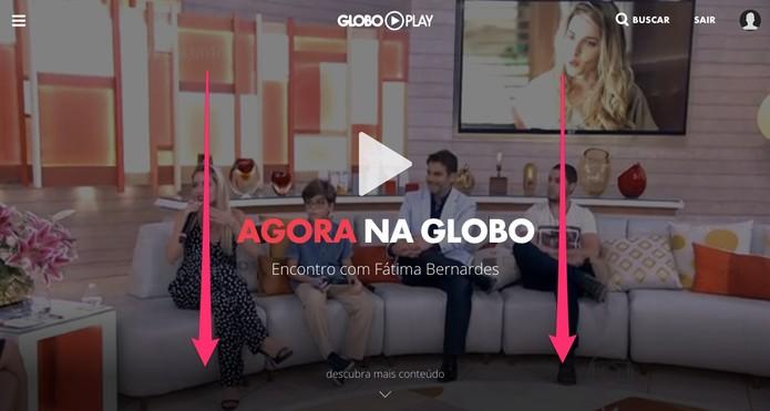 """Acesse o Globo Play e desça até """"Programas"""" (Foto: Reprodução/Lucas Mendes) (Foto: Acesse o Globo Play e desça até """"Programas"""" (Foto: Reprodução/Lucas Mendes))"""
