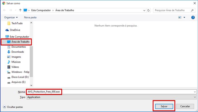 Salve o instalador da nova versão (Foto: Felipe Alencar/TechTudo)