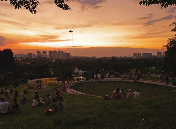 Praça pôr do sol (Foto: Reprodução / Facebook)