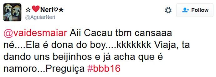 Twitter Festa Paranormal_ Cacau Crítica 2 (Foto: TV Globo)