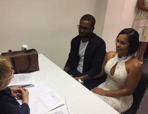 Luiz Antonio se casou nesta semana no civíl (Foto: Arquivo Pessoal)