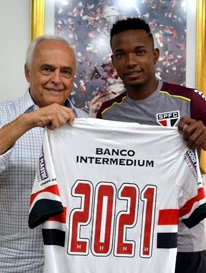 Thiago Mendes renova contrato São Paulo 2021 (Foto: Reprodução / Instagram)