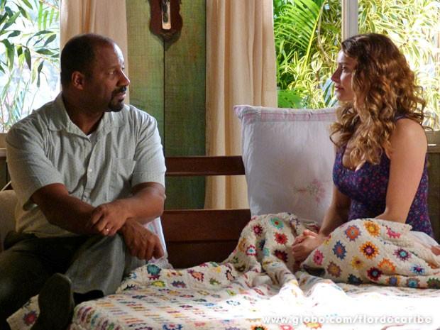 Dora decide se separar de Quirino (Foto: Flor do Caribe/TV Globo)