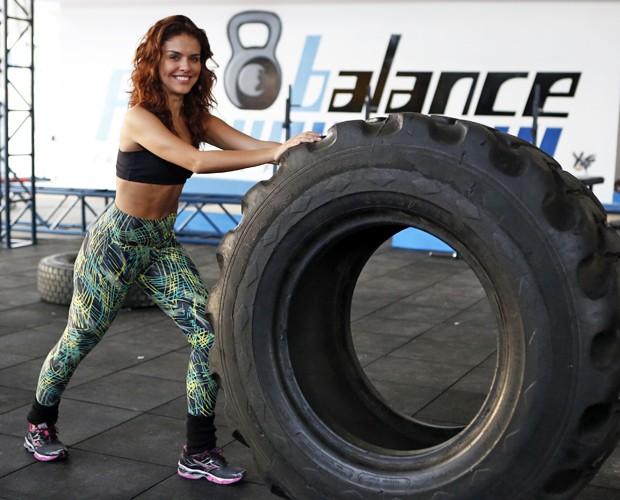 'Sou forte e aguento tudo', avisou Paloma antes de começar (Foto: Artur Meninea / TV Globo)