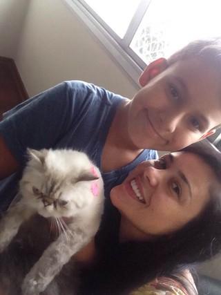 Rebeka Francis com o filho de Andressa, Arthur (Foto: Arquivo Pessoal)
