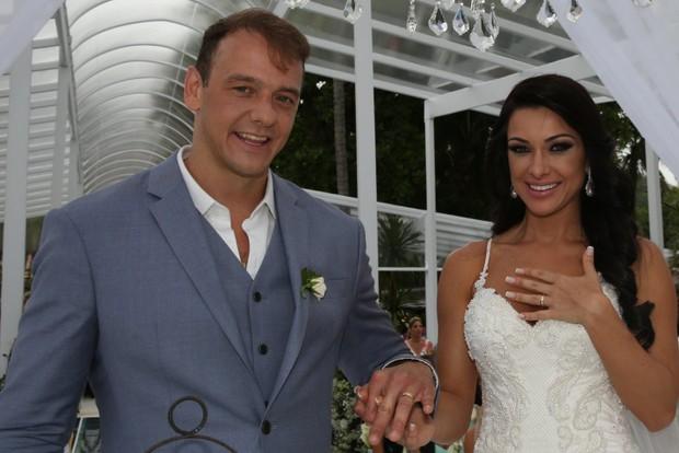 Rogério Padovan e Priscila Ferrari (Foto: Denilson Santos e Raphael Castello/AgNews)