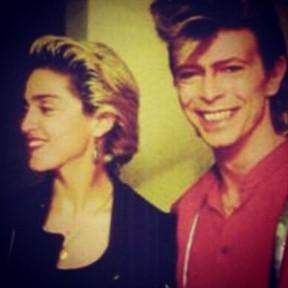 Madonna e David Bowie (foto de arquivo) (Foto: Instagram/ Reprodução)