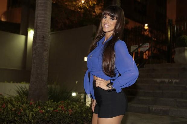 Carol Dias na festa de lançamento da Playboy de Nanda Costa (Foto: Alessandra Gerzoschkowitz / EGO)