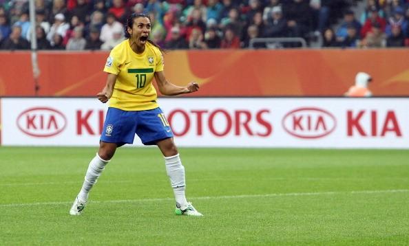 Marta, escolhida cinco vezes como a melhor jogadora do mundo (Foto: Getty Images)