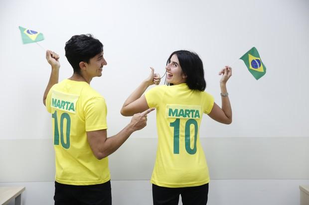 Marta ou Neymar? Faça uma camisa da estrela da seleção feminina (Foto: Marcos Serra Lima / Ego)