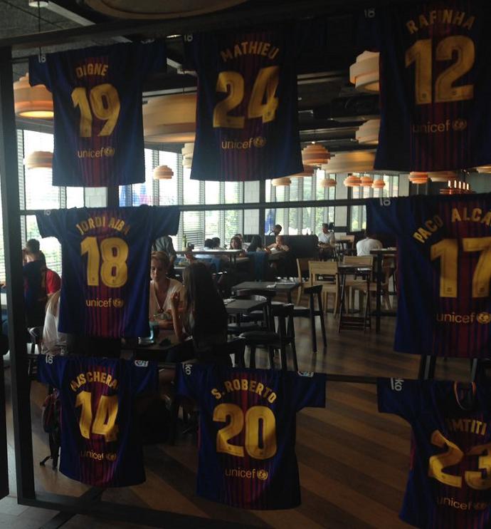 Restaurante Camp Nou Neymar antes depois